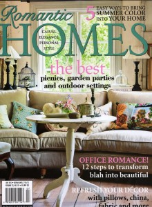 Thanks to editor Jacqueline deMontravel and her team for featuring The 50 Mile Bouquet in the July 2012 issue of Romantic Homes!