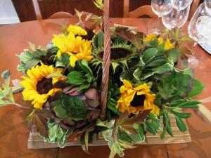 succulents_sunflowers